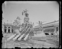 Image of McMonnies Fountain, Columbian Exposition, photo by Alice Austen, 1893