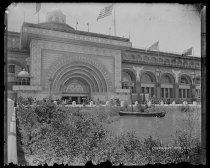 Image of Golden door Transportation Building, photo by Alice Austen, 1893