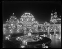 Image of Temple of Music at night, photo by Alice Austen, 1901