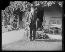 Image of Grandpa starting for Catskill - Negative, Glass-plate