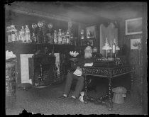 Image of Grandpa in parlor 80th birthday, photo by Alice Austen, 1891