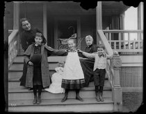 Image of Nellie, Miss Butler and children laughing, photo by Alice Austen, 1892