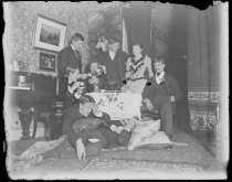 Image of Julia B. & self, Messrs Rawl, Ordway, Blunt, Buel, Gibson & Maurice - Negative, Glass-plate