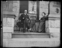 Image of Dr & Mrs Eccleston on Rectory piazza, photo by Alice Austen, ca. 1888