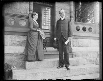 Image of Dr. and Mrs. Eccleston on rectory piazza, photo by Alice Austen, ca. 1888