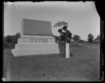 Image of Tombstone Trude & Mr Hopper approaching - Negative, Glass-plate
