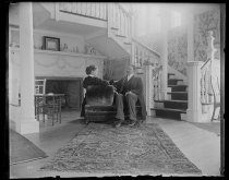 Image of Hall, interior Mr. Richards and Lou - Negative, Glass-plate