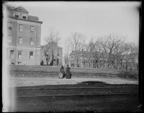 Image of Buildings of Rutgers College, photo by Alice Austen, December 12, 1891