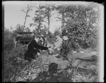 Image of Party at lunch Richmond Valley woods - Negative, Glass-plate