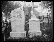 Image of Tombstones St Andrews church - Negative, Glass-plate