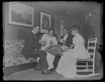Image of [Poker game] - Negative, Glass-plate
