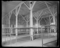 Image of [Interior with beds, Quarantine] - Negative, Glass-plate