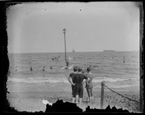 Image of Bathers at South Beach, photo by Alice Austen, ca. 1890-1900