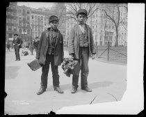 Image of Bootblacks, City Hall Park, photo by Alice Austen, 1896