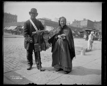 Image of Organ Grinder and Wife, photo by Alice Austen, 1896