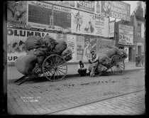 Image of Rag pickers & loaded carts - Negative, Glass-plate