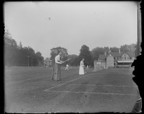 Image of [S.I.L.C. Tournament, Miss Cahill and Miss McKinlay] - Negative, Glass-plate
