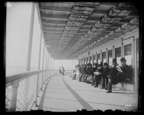 Image of Part of our ferry boat deck - Negative, Glass-plate