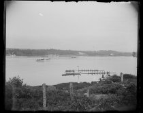 Image of Yale vs Harvard race Judges boat start, photo by Alice Austen, 1892