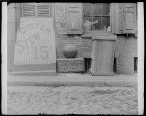 Image of Old Boston stone, photo by Alice Austen, 1892