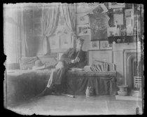 Image of Jim Nichols in his room Harvard, photo by Alice Austen, 1892