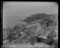 Image of Rocks, Castle rock in distance, photo by Alice Austen, 1892