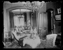 Image of The Strongs back parlor, photo by Alice Austen, 1892