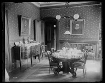 Image of The Strongs dining room table set, photo by Alice Austen, 1892