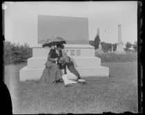 "Image of Tombstone Trude & Mr Hopper ""yes,"" photo by Alice Austen, 1892"