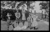 Image of Group in bathing costumes   - Negative, Glass-plate