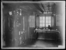 Image of Interior of kitchen with range - Negative, Glass-plate