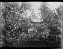 Image of North end of house - Negative, Glass-plate