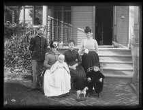 Image of Mr. and Mrs. Blunt and family, photo by Alice Austen, 1888