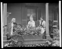 Image of Mrs. Cooper, Miss Worth & Mrs Snively - Negative, Glass-plate