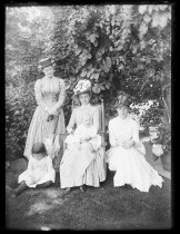 Image of [Pussy Martin and Baby, Julia, Sophie Pool and Schuyler] - Negative, Glass-plate