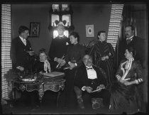 Image of [Group in parlor at V. Ward's] - Negative, Glass-plate