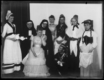 Image of [Costume party] - Negative, Glass-plate