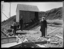 Image of John Silva's shad fishing station, photo by Alice Austen, 1895