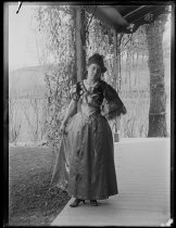 Image of Myself in Spanish Living Whist costume - Negative, Glass-plate
