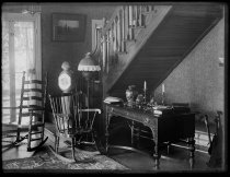 Image of Hall in Julie Lord's house - Negative, Glass-plate
