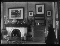 Image of Julie Marsh room & fire place - Negative, Glass-plate