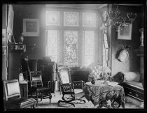Image of Library at the Rectory St. John's, photo by Alice Austen, 1890