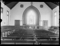 Image of Interior of St. John's Sunday school - Negative, Glass-plate