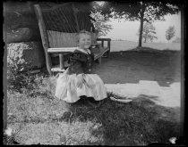 Image of Eccleston Blunt sitting down, photo by Alice Austen, 1896