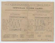 Image of Scorecard, New York Metropolitans, 1886 or 1887 (inside)