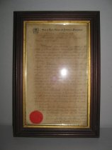 Image of overview, certificate in frame