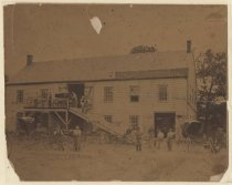 Image of Morgan & Perry carriage factory, West New Brighton, ca. 1879-1886