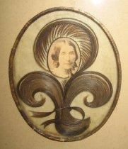 Image of detail, portrait of Harriet Oakley Totten