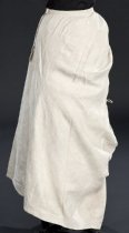 Image of back view of skirt, unbuttoned