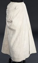 Image of front view of skirt, buttoned